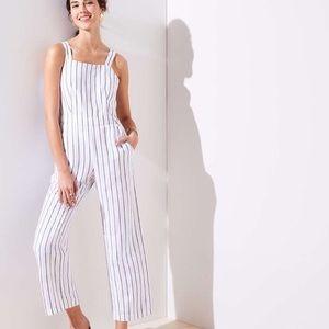 LOFT White & Grey Jumpsuit